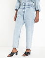 High Waisted Acid Wash Jean Acid Wash Indigo