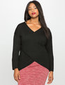 Kelsey Cross Front Sweater Black
