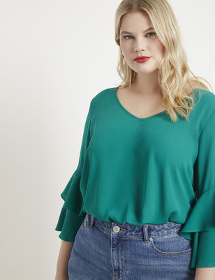 Dramatic 3/4 Sleeve Top
