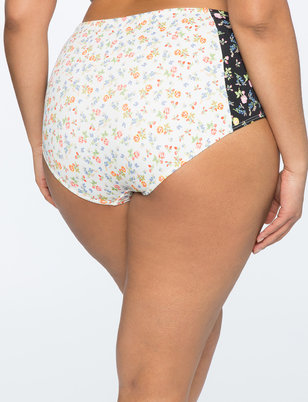 Printed High Waisted Bikini Bottom