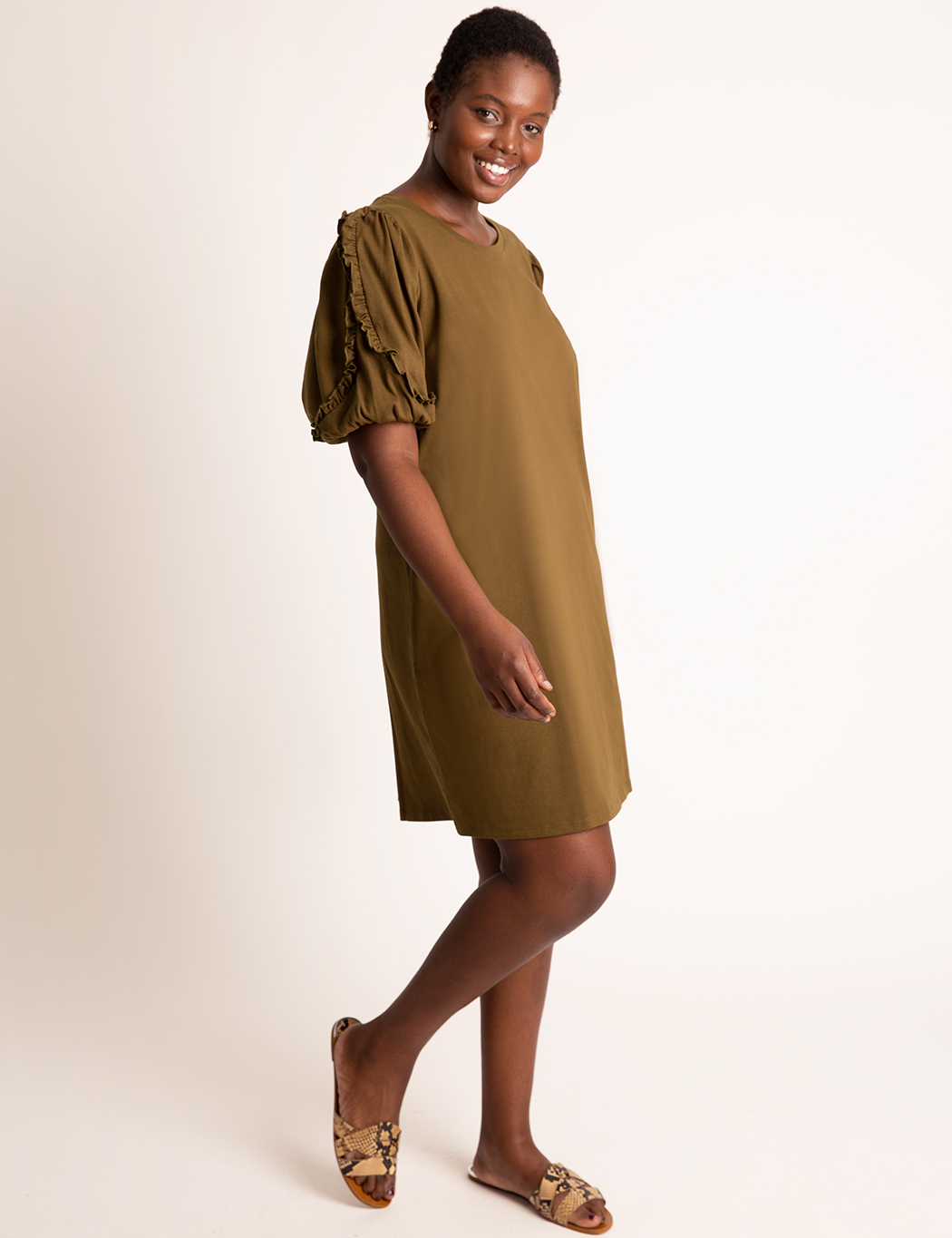 Puff Sleeve Easy Dress 7