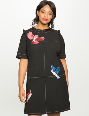 Studio Bird Embroidered Easy Dress