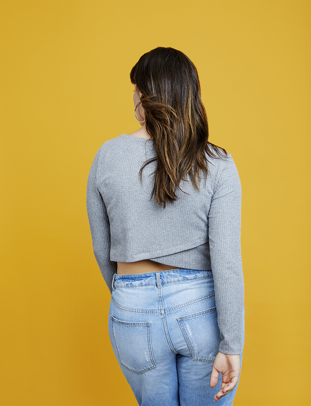 R29 x ELOQUII Cross Back Ribbed Crop Top