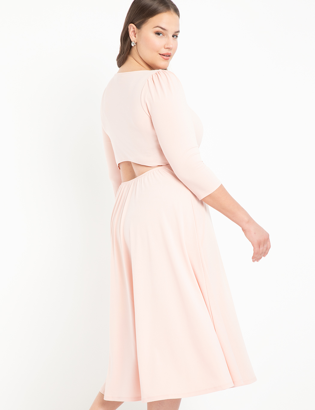 Boat Neck Dress With Back Detail