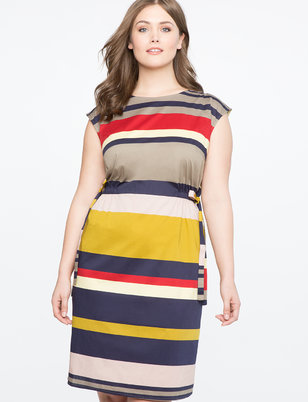 Side Tie Easy Dress