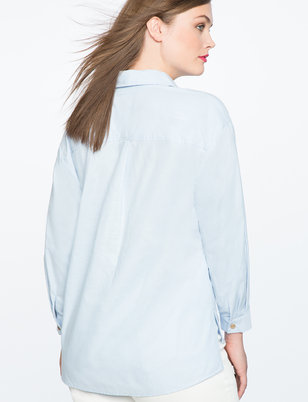ELOQUII x Katie Sturino Dropped Shoulder Top
