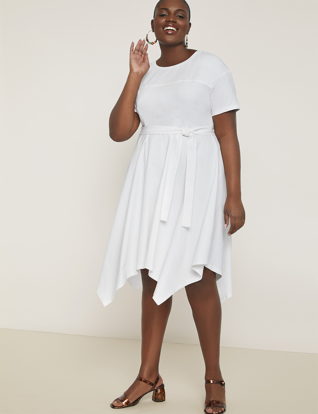 Handkerchief Hem Tee Dress