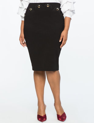 Pencil Skirt with Scallop Detailing
