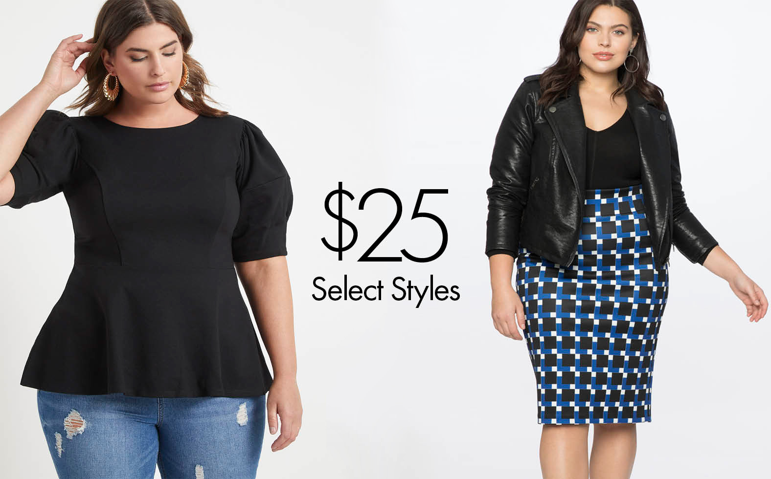 Plus Size Clothing, Dresses, Skirts, Suits, Tops, Jeans and
